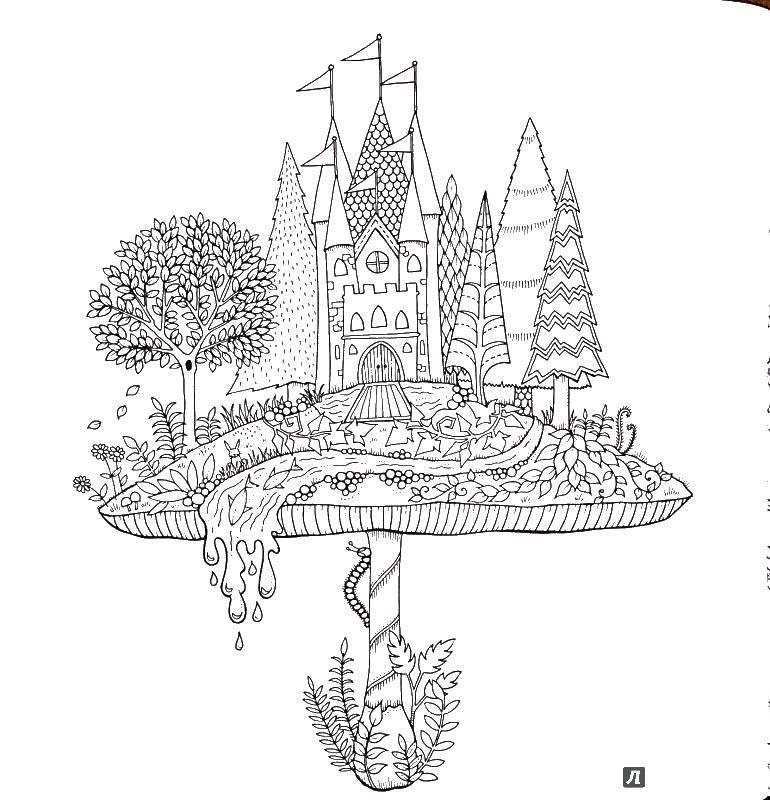 Раскраска Замок Скачать замок.  Распечатать ,замки,