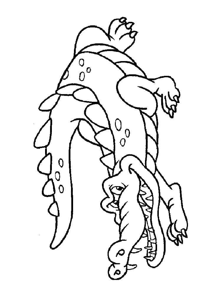 Раскраска Злой крокодил Скачать животные, крокодилы, зубы.  Распечатать ,Животные,