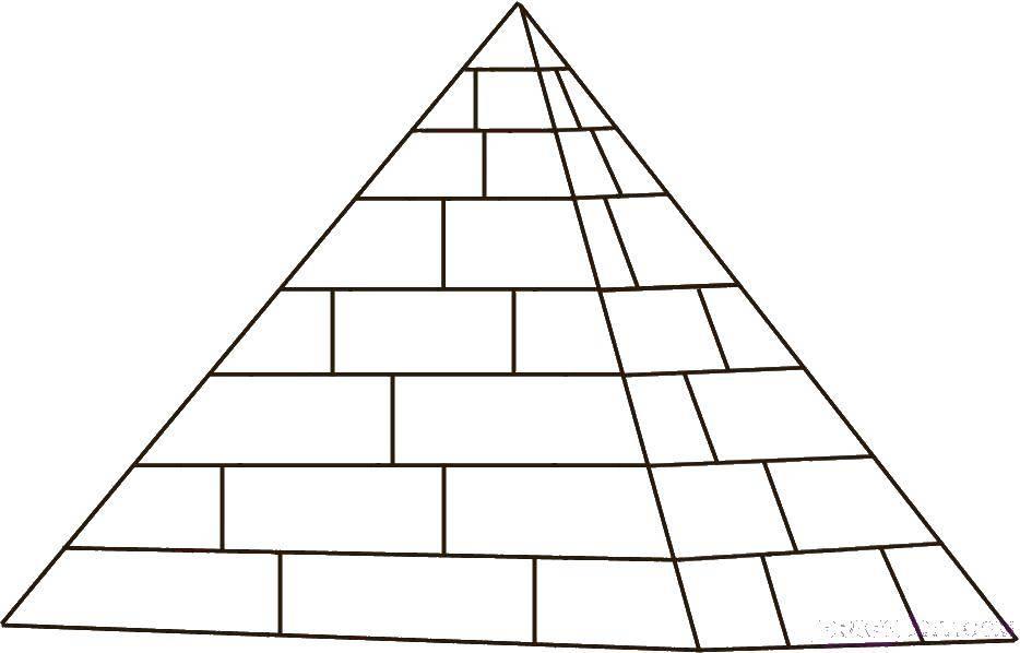 Раскраска египет Скачать ,Египет, пирамиды,.  Распечатать