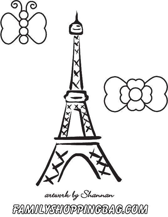 Название: Раскраска Эйфелева башня.. Категория: раскраски. Теги: Франция, Эйфелева башня, париж.