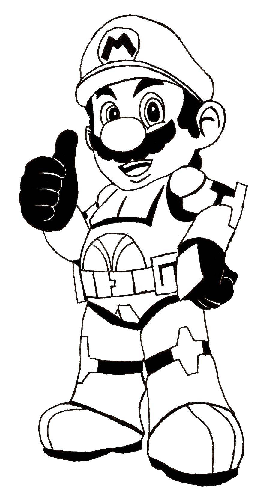 Название: Раскраска Марио. Категория: марио. Теги: марио, игры, персонажи, супер марио.