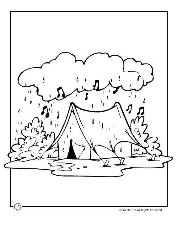 Раскраска дождь Скачать ,на мышление, логика, задача, загадка,.  Распечатать