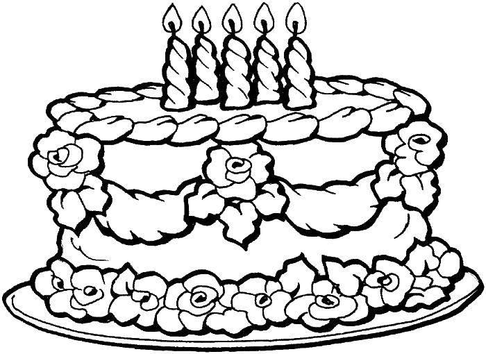 Раскраска день рождения Скачать контру, слоненок, бивни, хобот.  Распечатать ,контуры слона для вырезания,