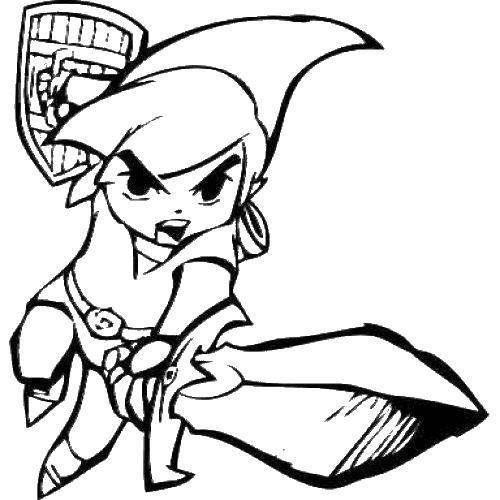Раскраска Воин с мечом и щитом Скачать люди, принц, воин.  Распечатать ,Люди,