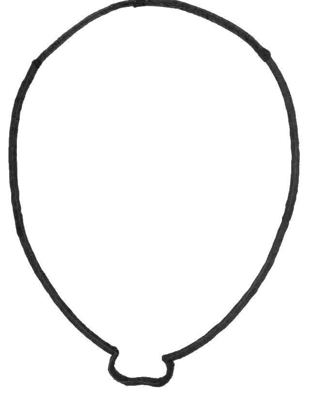 Раскраска Разрисуй воздушный шарик Скачать Воздушные шарики.  Распечатать ,воздушный шар,