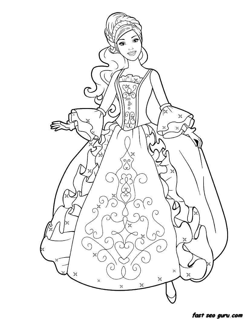 Раскраски принцесса, Страница:4.