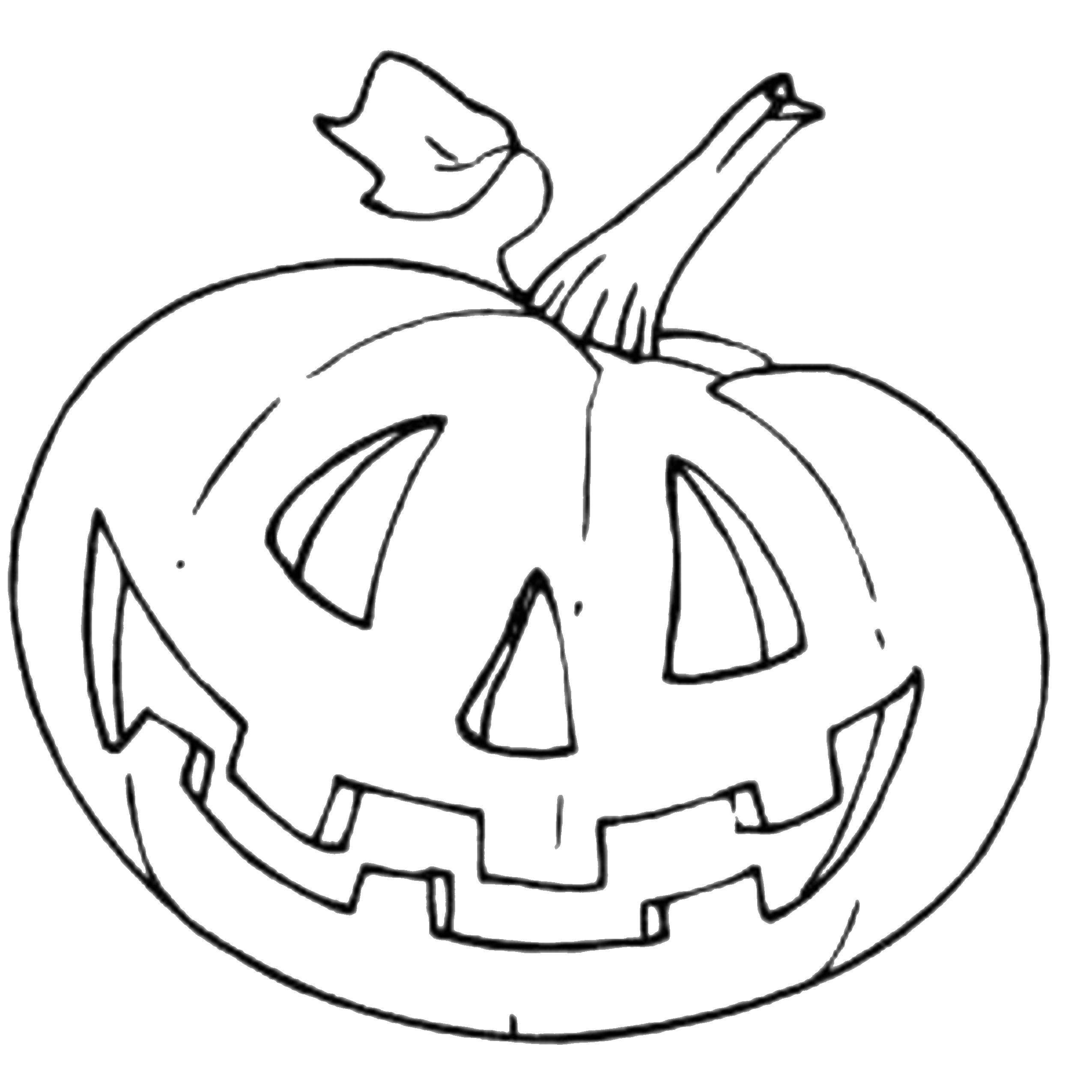 Раскраска тыква на хэллоуин Скачать ,тыквы, хэллоуин, праздник,.  Распечатать