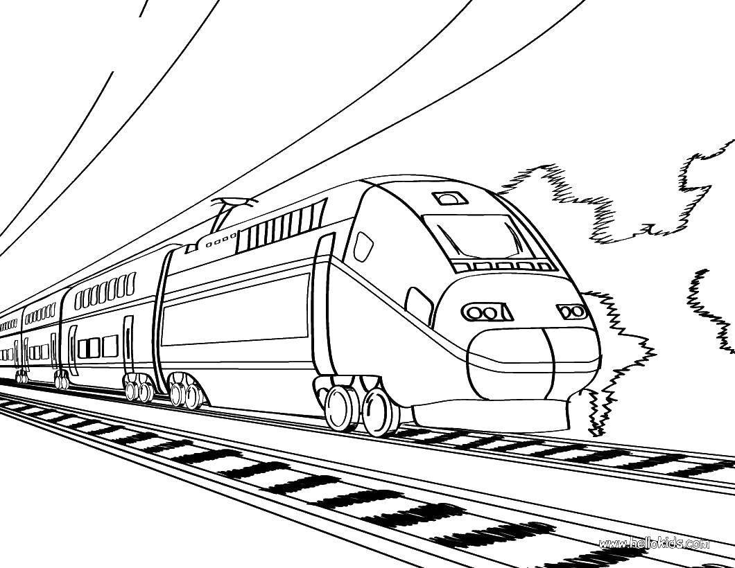 Раскраска поезд Скачать английский алфавит, буквы, L.  Распечатать ,Английский алфавит,
