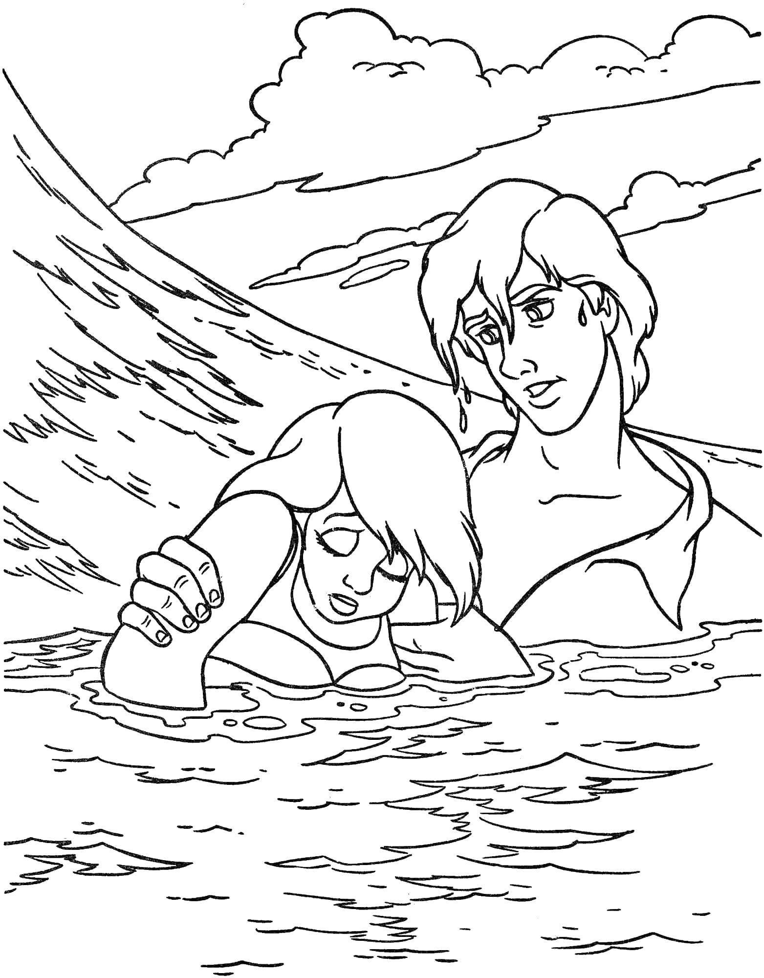 раскраски эрик раскраска эрик спас ариэль русалочка
