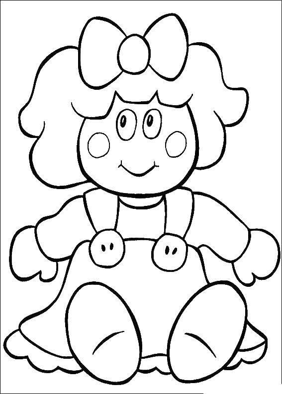 Раскраски кукла, Страница:11.