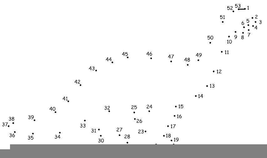 Раскраска Динозавр по точкам Скачать динозавр, точки, цифры.  Распечатать ,Нарисуй по точкам,
