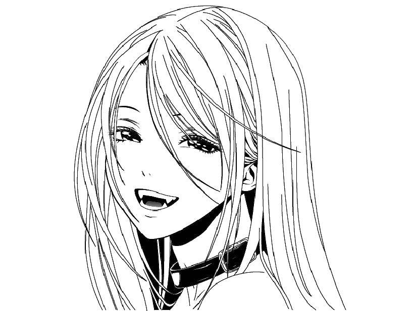 Download Coloring Pages Of Anime Vampires - Anime Coloring Pages ... | 617x822