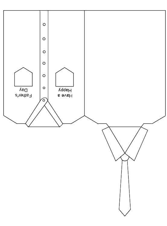 Раскраска Рубашки и галстук Скачать одежда, рубашка, галстук.  Распечатать ,Одежда,