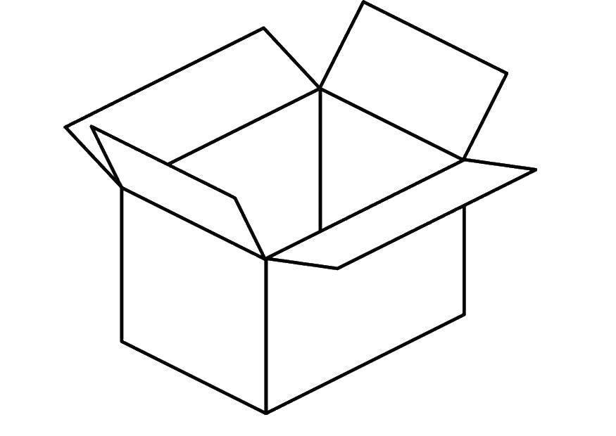 Раскраска Открытая коробка. Скачать коробка, картон.  Распечатать ,раскраски,
