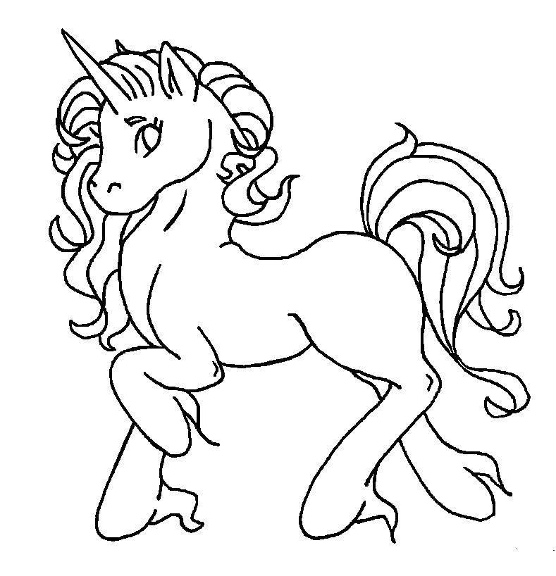 Раскраска Пони с рогом. Скачать Пони, My little pony .  Распечатать ,Пони,