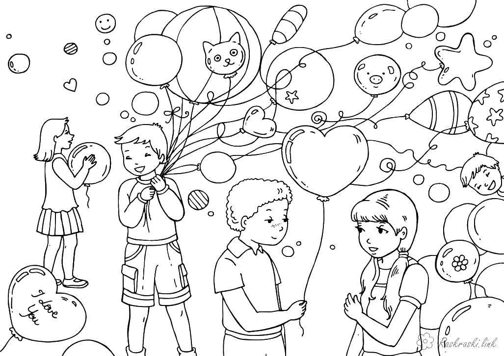 Раскраска День святого валентина Скачать мультфильмы, телепузики.  Распечатать ,мультфильмы,
