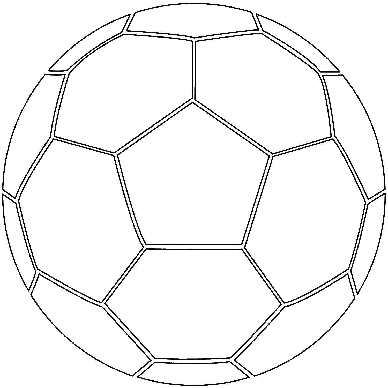 Раскраска Футбол мяч Скачать мяч, футбол.  Распечатать ,Футбол,