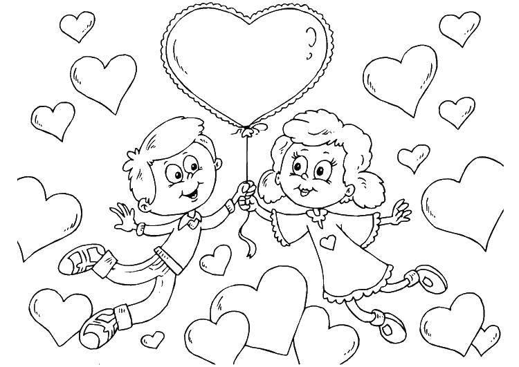 Раскраска День святого валентина Скачать ,Спорт, баскетбол, мяч, игра,.  Распечатать