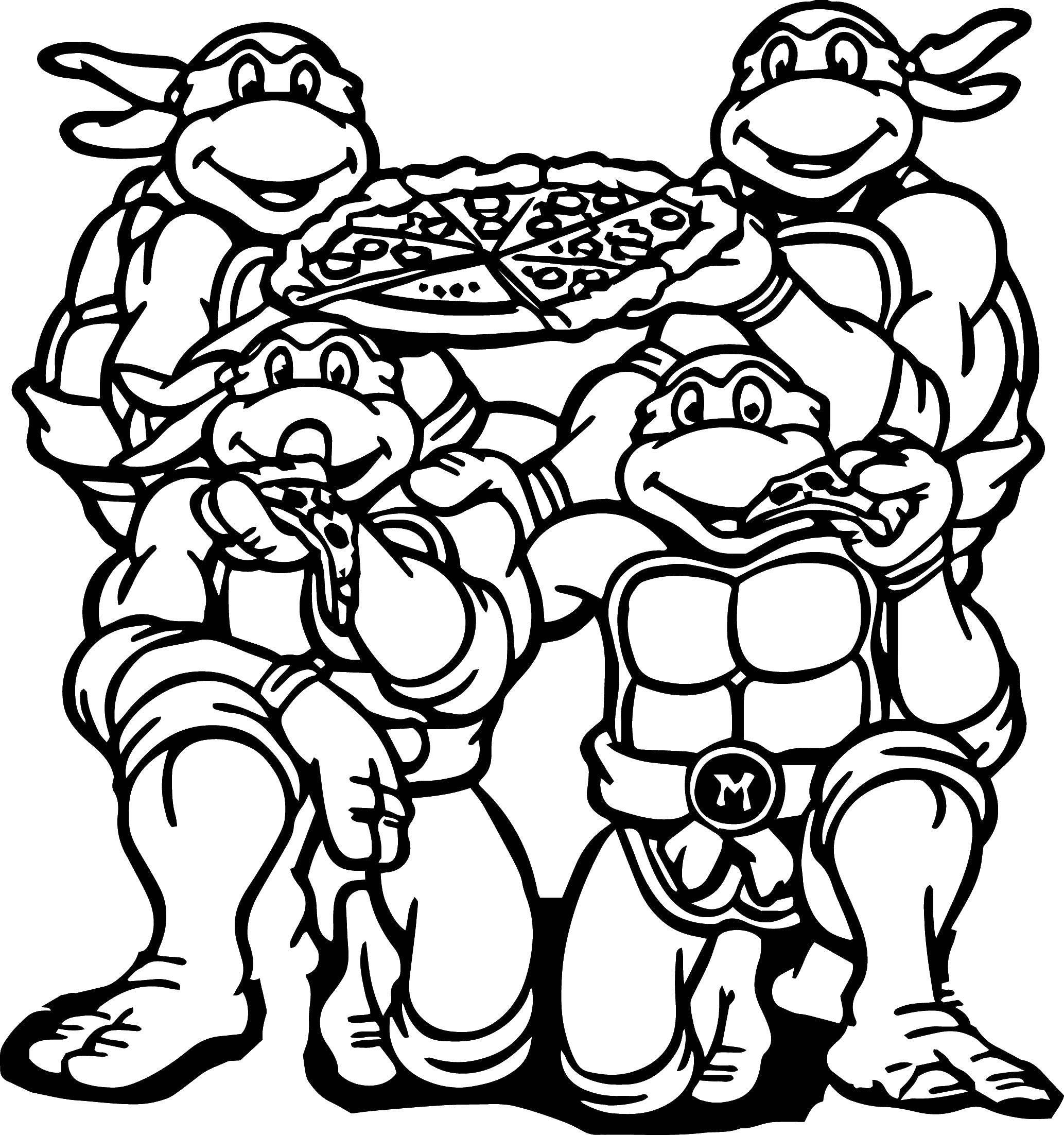 Раскраски пицца, poisk.