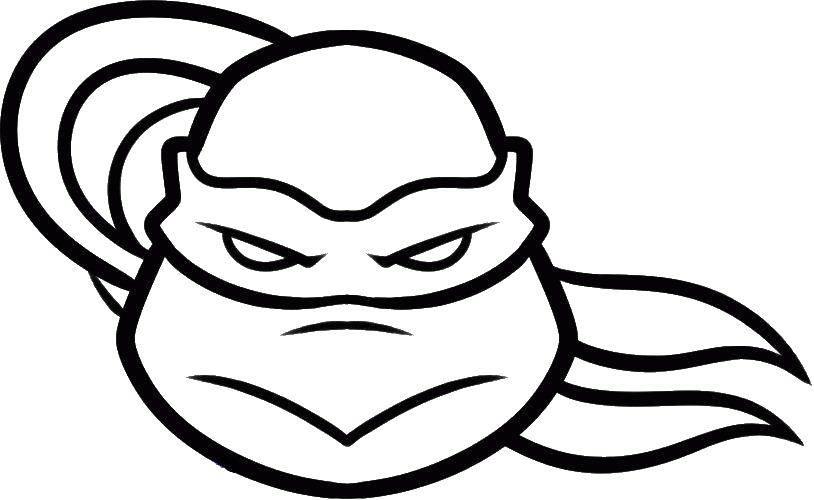 Раскраска Голова донателло Скачать голова, черепаха, ниндзя.  Распечатать ,ниндзя,
