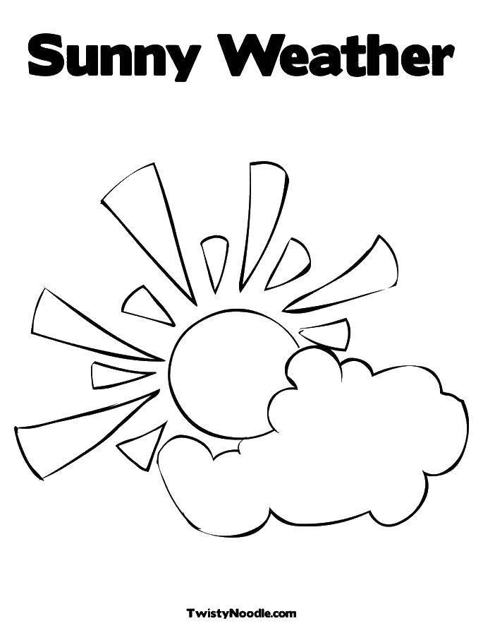 Раскраска погода Скачать ,пропись, 7,.  Распечатать
