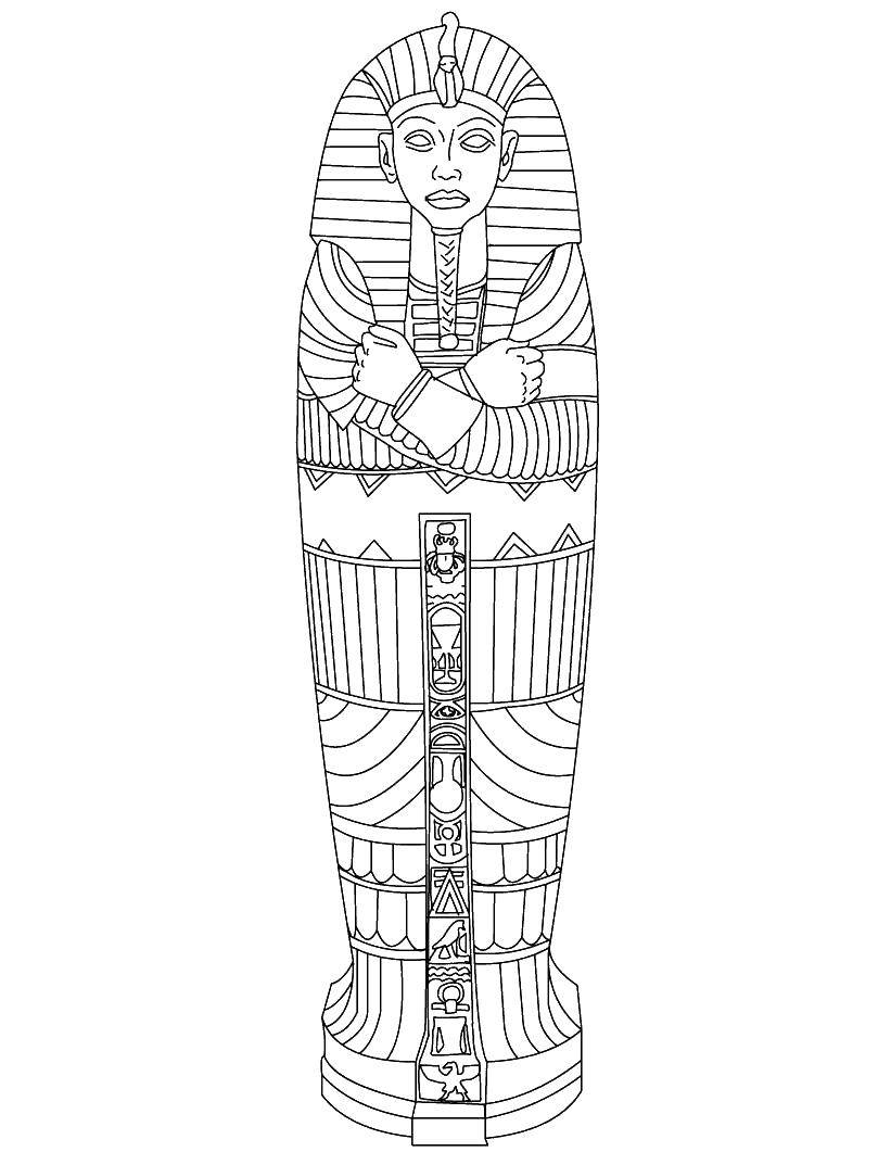 Online Coloring Pages Egypt Coloring Page Tomb Of The Pharaoh Egypt