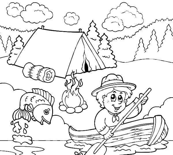 раскраски рыбалка раскраска рыбалка в походе отдых