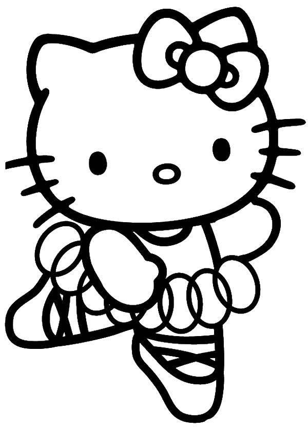 Раскраска Hello Kitty Скачать цветы, лепестки.  Распечатать ,цветы,