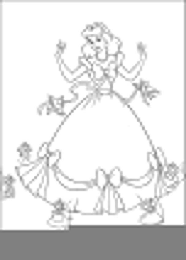 Раскраска Золушка и птички с мышками. Скачать золушка, птички, мышки.  Распечатать ,Принцесса,