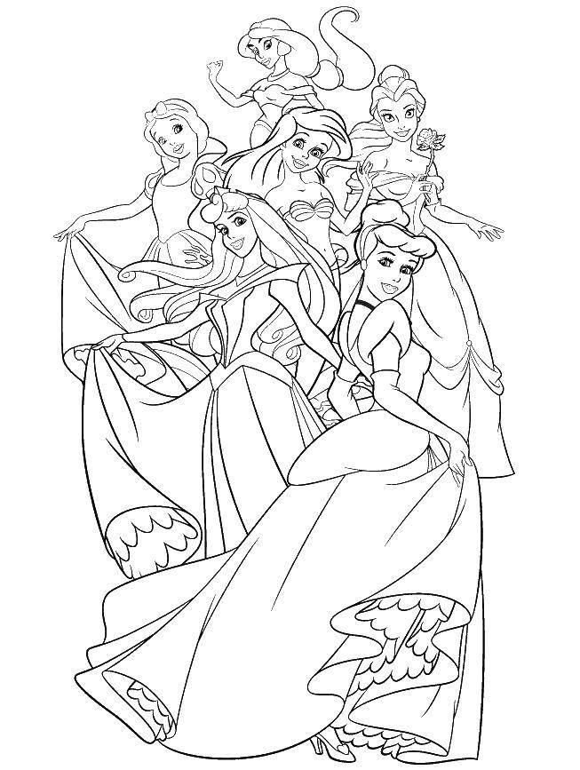 Раскраски принцессы, Страница:2.