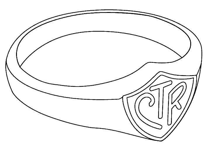 Раскраска Кольцо стр. Скачать кольцо.  Распечатать ,кольцо,