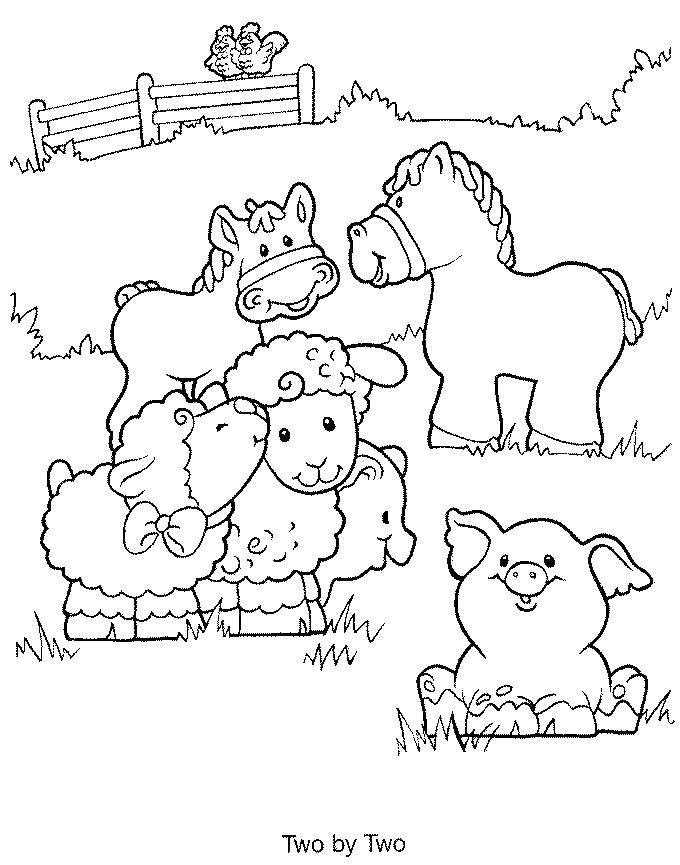 Раскраска Найди пару животным на ферме Скачать животные, ферма.  Распечатать ,животные,
