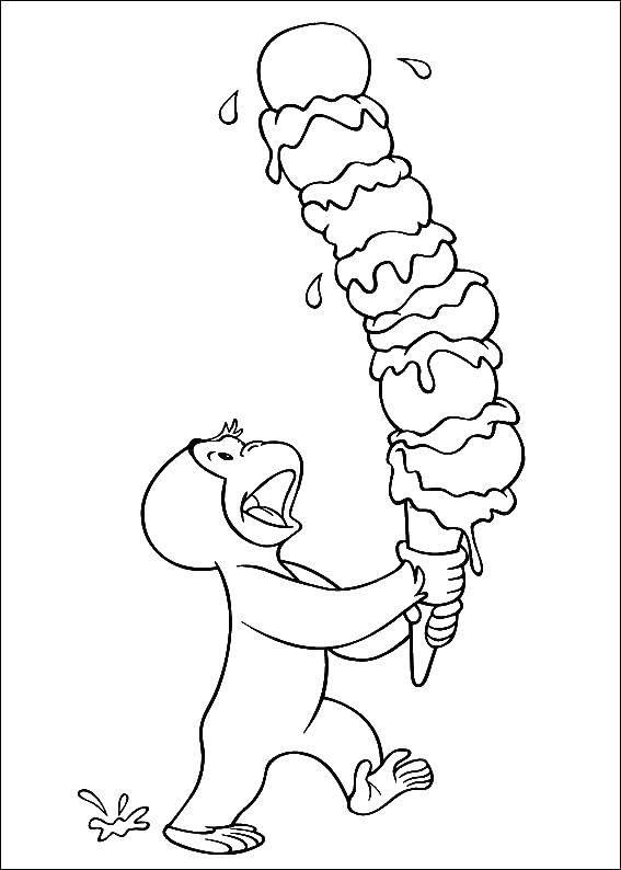 раскраски мороженое страница 15