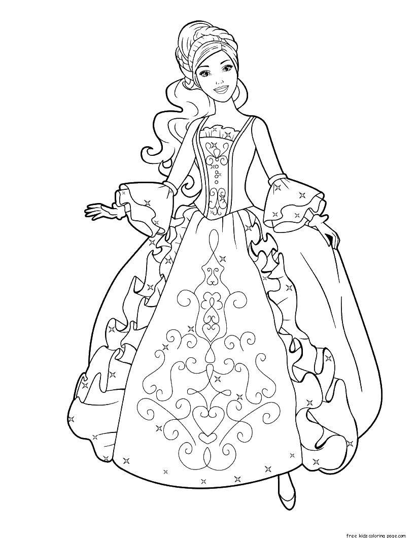 раскраски принц раскраска принцесса барби принцессы