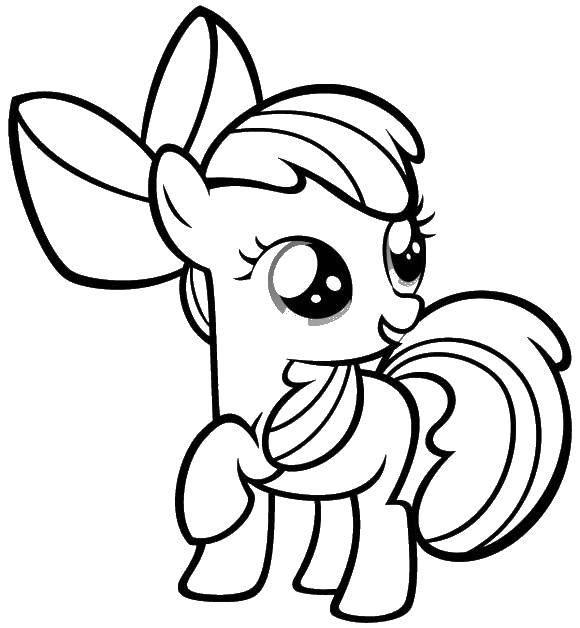Раскраска Пони Скачать для девочек, пони, лошадки.  Распечатать ,Для девочек,
