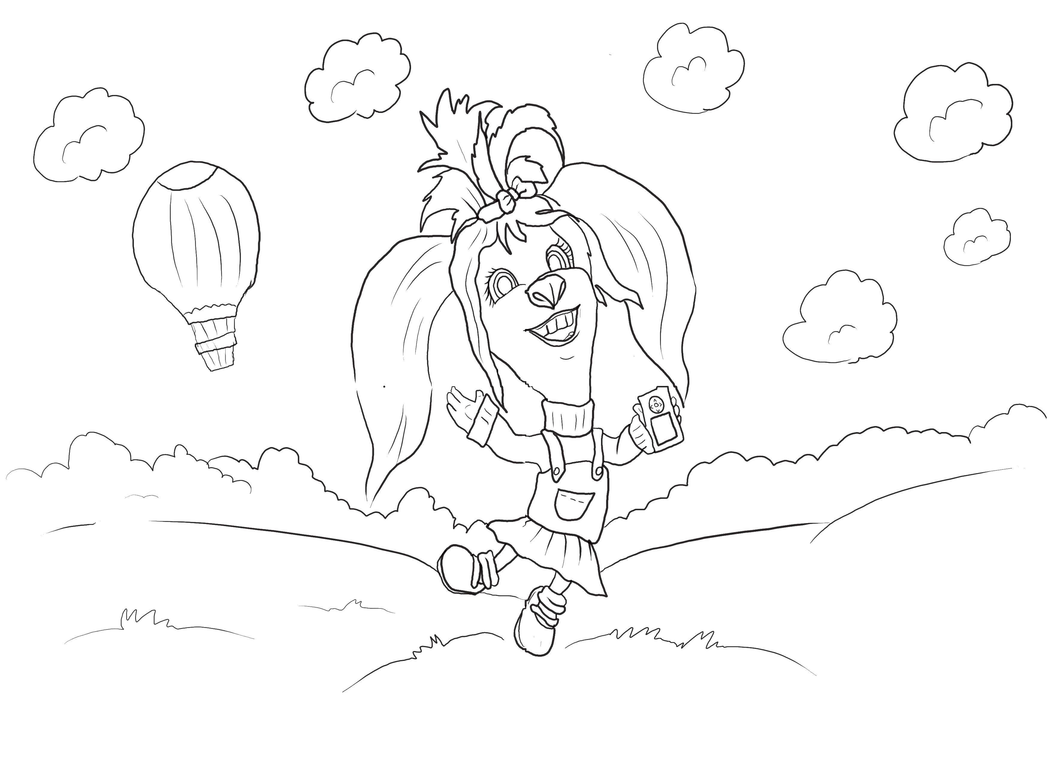 Раскраска Собачка барбоскина Скачать барбоскины, собаки, мультфильмы.  Распечатать ,Барбоскины,