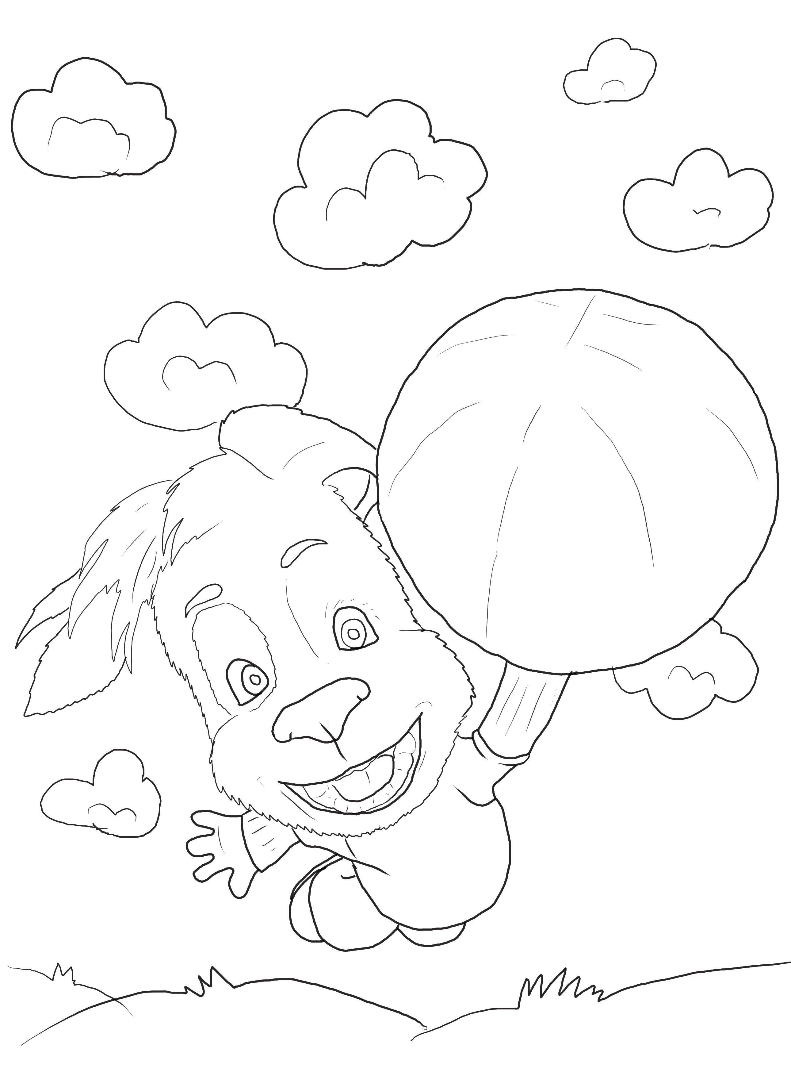 Название: Раскраска Собачка с мячом. Категория: Барбоскины. Теги: барбоскины, собаки, мяч.