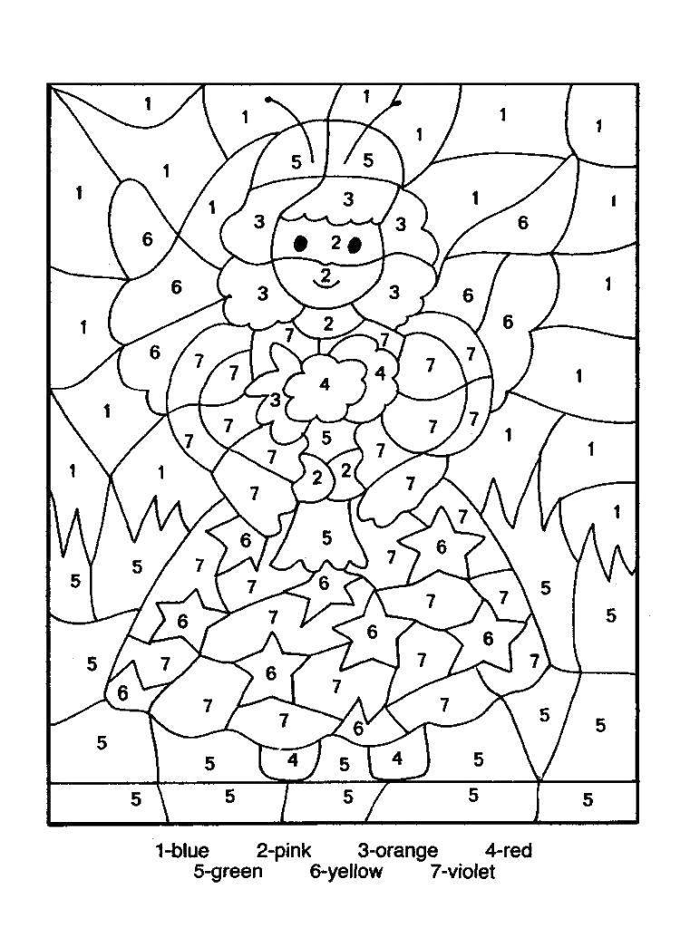 Раскраска По номерам Скачать мультфильмы, черепашки ниндзя.  Распечатать ,черепашки ниндзя,