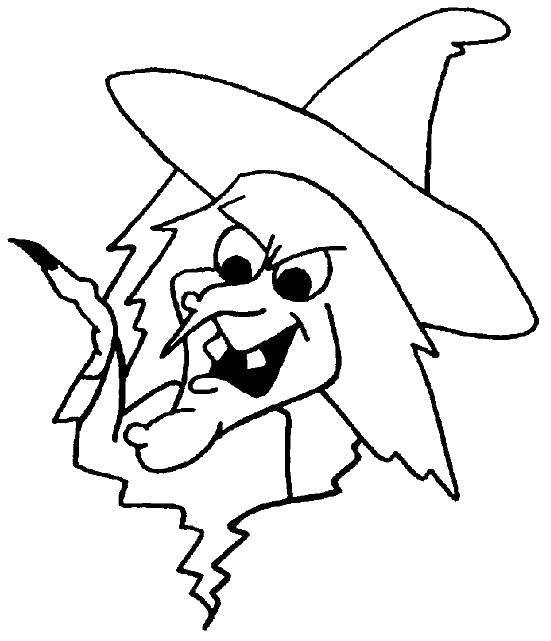 Раскраска Голова ведьмы Скачать ведьма, хэллоуин.  Распечатать ,Хэллоуин,
