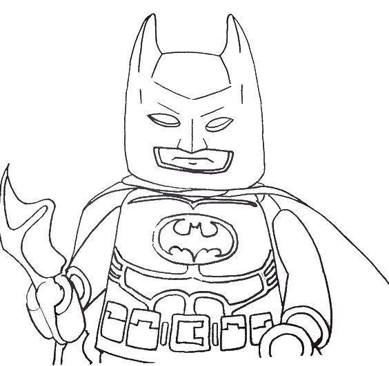 Раскраска Лего бэтмен супергерои Скачать лего, бэтмен.  Распечатать ,Лего,