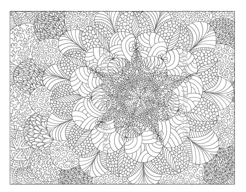 Раскраска Очень маленькие узоры Скачать узоры, цветы.  Распечатать ,раскраски антистресс,