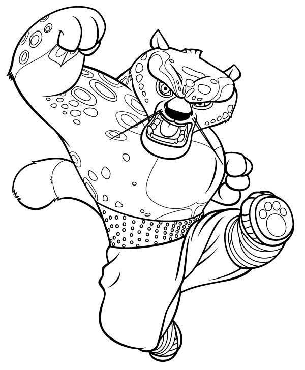 Раскраска Рисунок кун фу панда Скачать КунфуПанда.  Распечатать ,домашние животные,
