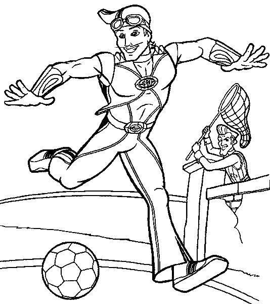 Название: Раскраска Спортукус с мячом. Категория: раскраски. Теги: Спортукус.