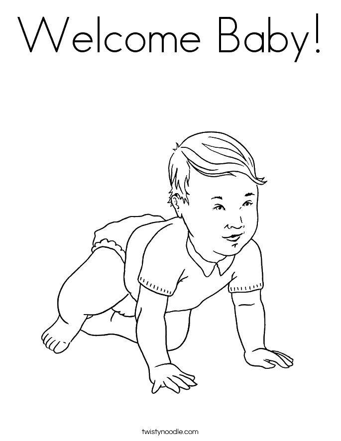 Online Coloring Pages Diapers Coloring Page The Child In Diapers