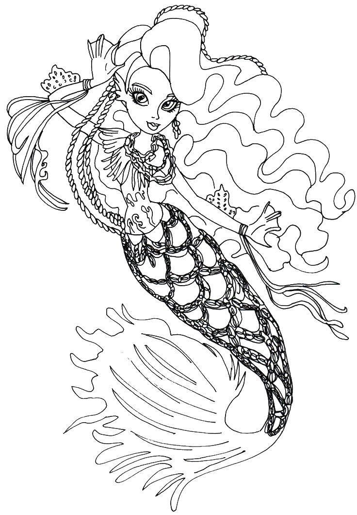 Раскраски русалка, Страница:5.