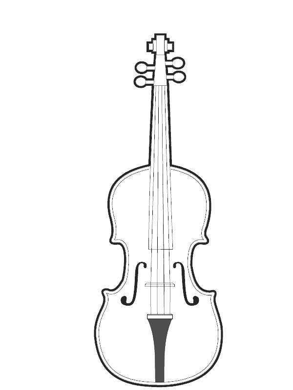 раскраски раскраска скрипка музыкальный инструмент скачать