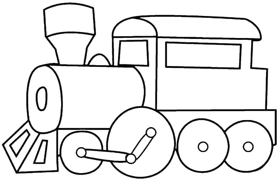 Раскраска поезд Скачать ,атомы, молекулы,.  Распечатать
