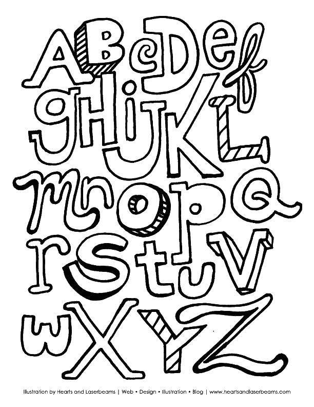 Раскраска Английский алфавит Скачать ,гринч,.  Распечатать