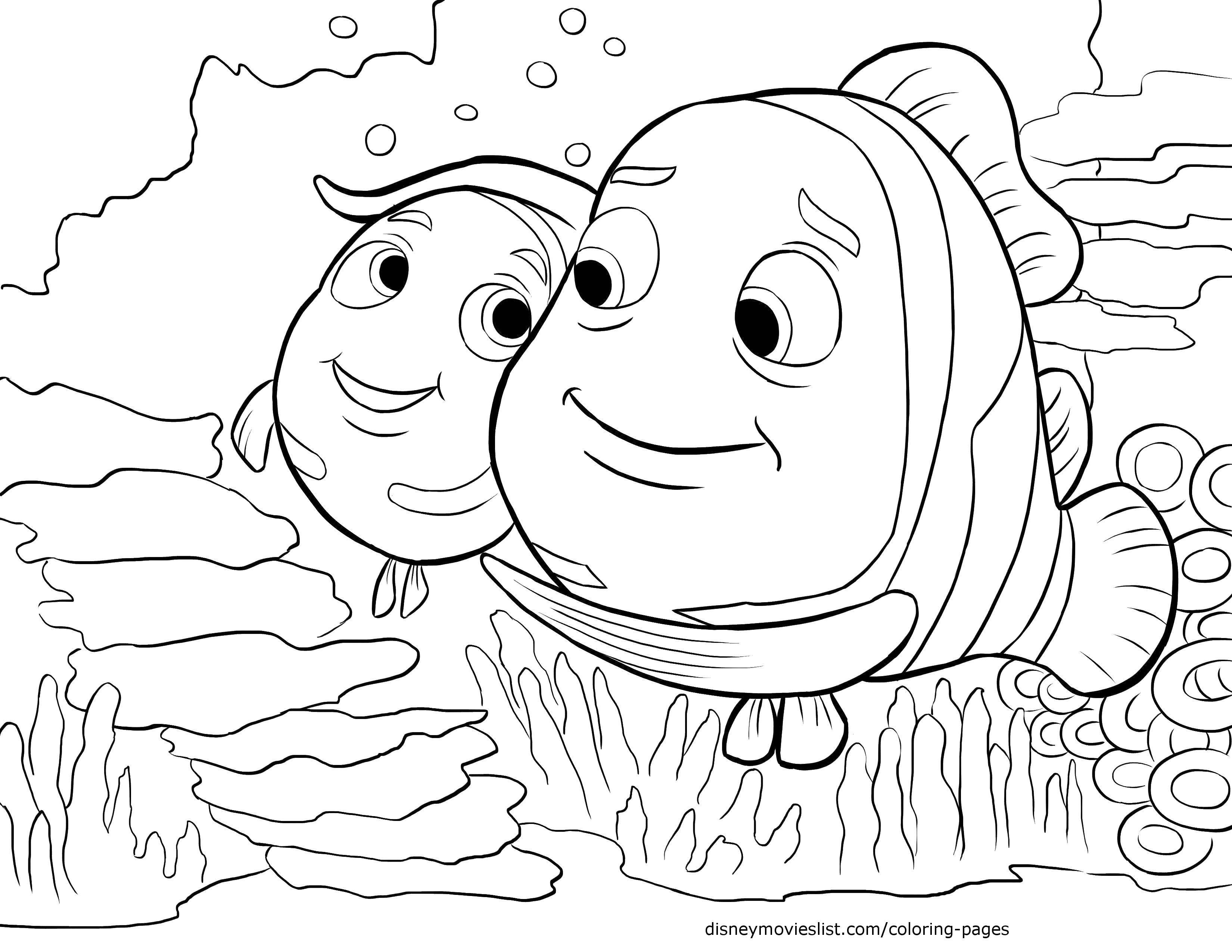 Раскраска Рыбки из мультфильма  в поисках дори  Скачать Персонаж из мультфильма,  В поисках Дори .  Распечатать ,Персонаж из мультфильма,