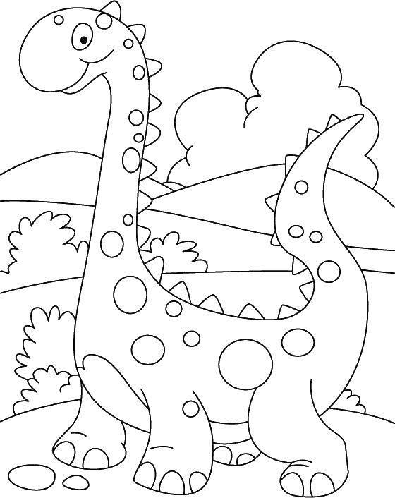 Раскраска Динозаврик Скачать парк юрского периода, динозавры, динозаврик.  Распечатать ,парк юрского периода,